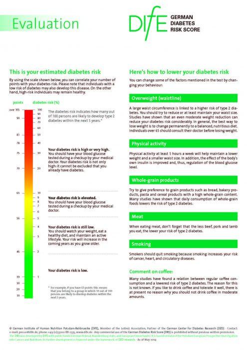 Deutscher Diabetes Risiko-Test (DIfE)