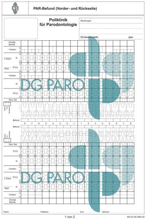 Dokumentation der Poliklinik für Parodontologie, ZZMK, Goethe-Universität Frankfurt a.M.